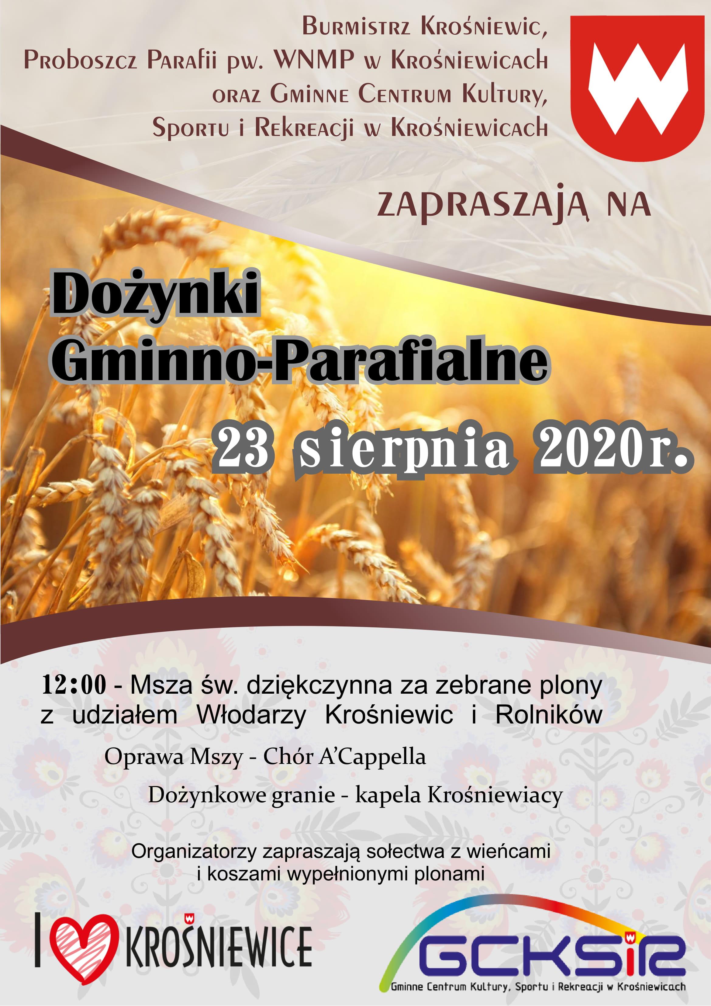 Dożynki gminno   parafialne 2020 1
